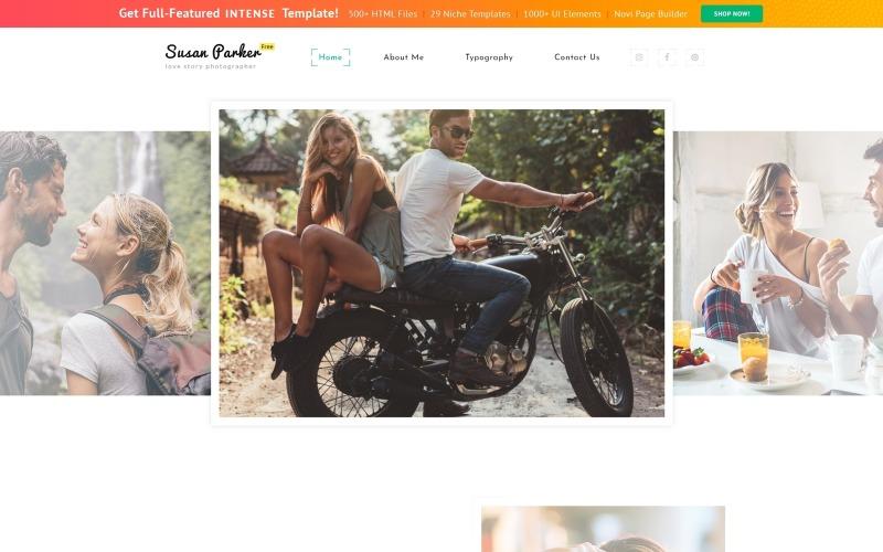 Modello di sito Web Bootstrap 4 HTML Template gratuito