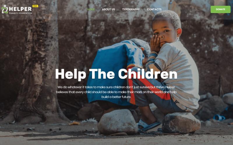 Modelo de site de tema HTML5 gratuito para organização social