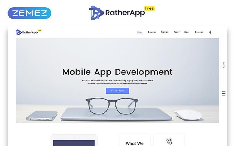 Modelo gratuito de site de tema de página única HTML5