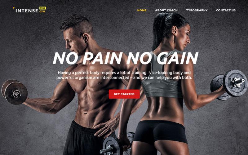 Modelo gratuito de tema HTML5 para site de esportes