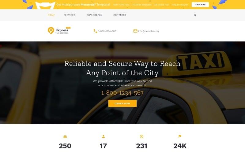 Taksi Şirketi Web Sitesi Şablonu için Ücretsiz HTML5 Teması