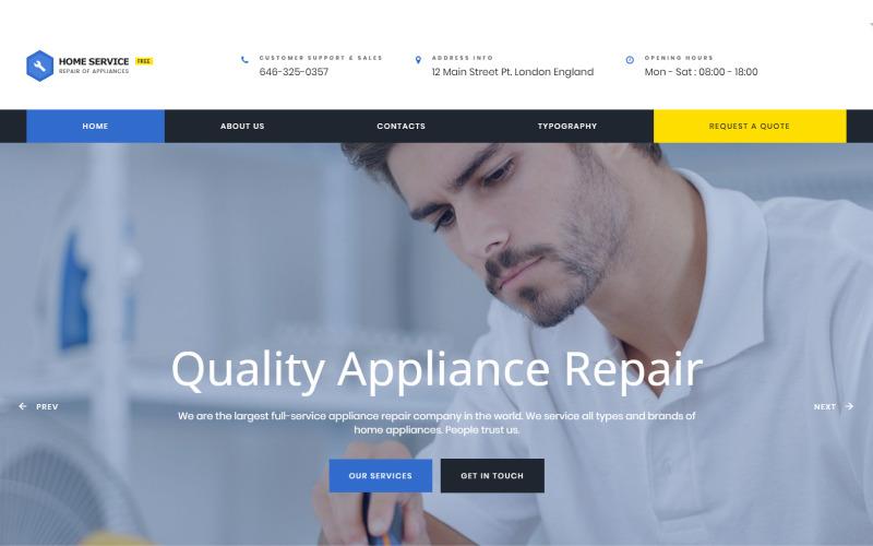 Tema HTML5 grátis - Modelo de site de limpeza