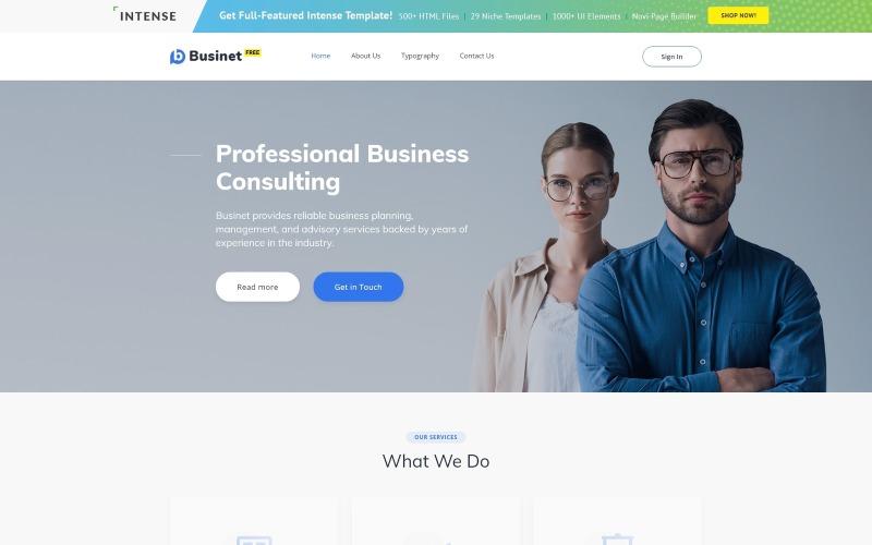 Tema HTML5 grátis para modelo de site de site de negócios