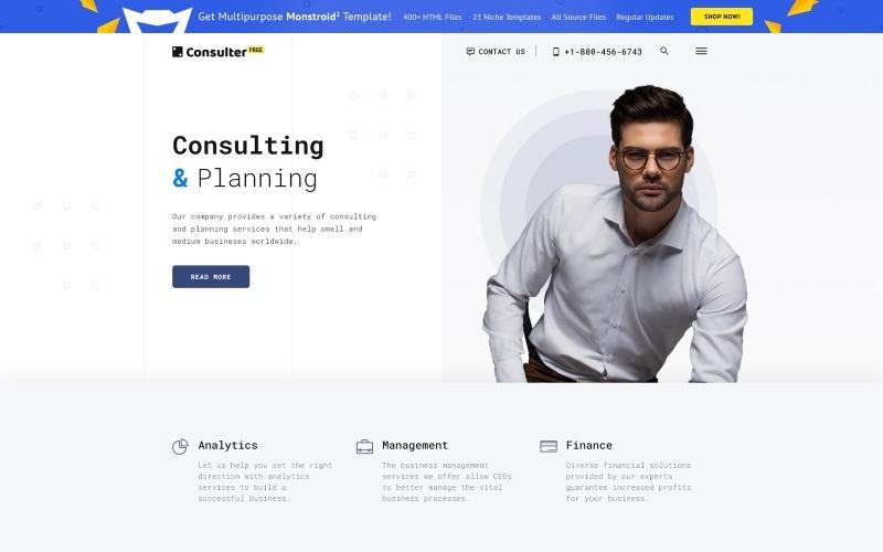Tema HTML5 gratuito per modello di sito Web di società di consulenza