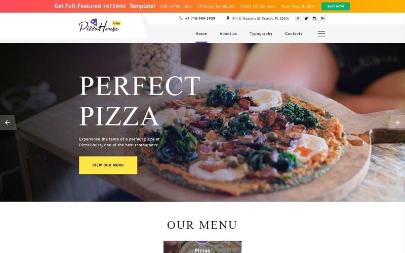 Thème HTML5 gratuit pour le modèle de site Web de site Web de restaurant