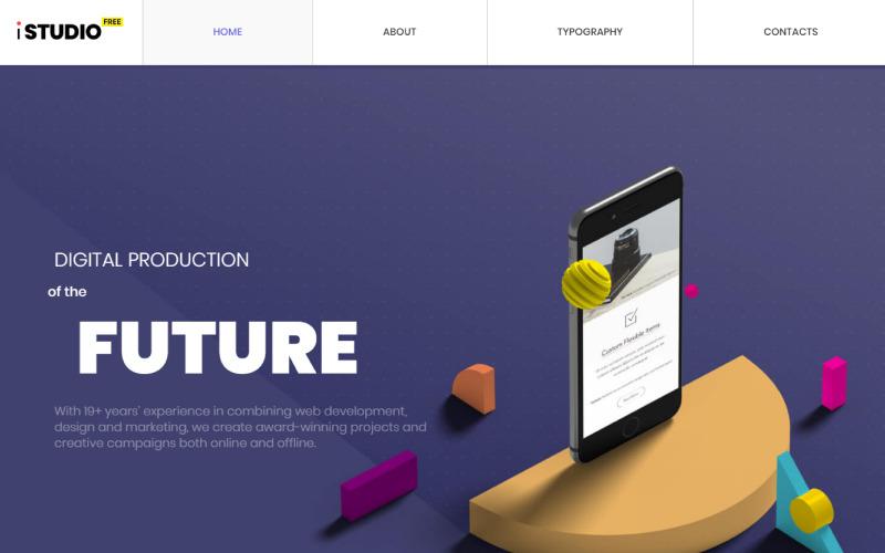 Ücretsiz HTML5 Teması - Tasarım Stüdyosu Web Sitesi Şablonu