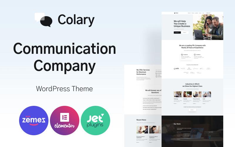 Colary - komunikační společnost WordPress Theme