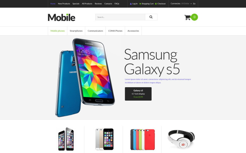 Mobile Devices ZenCart Template