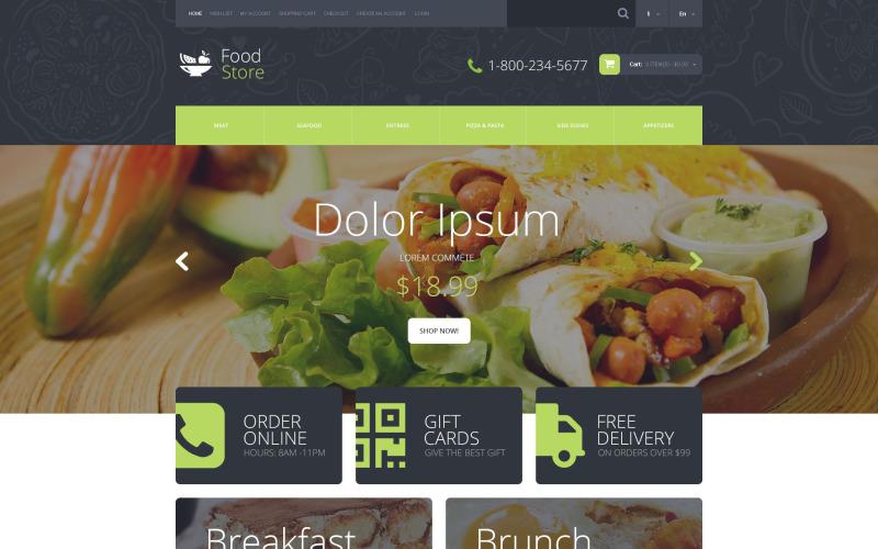 Modèle OpenCart de magasin d'alimentation