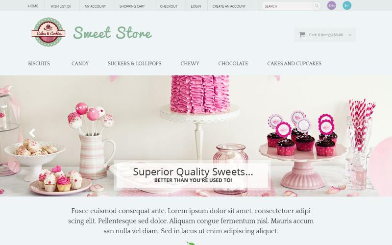 Шаблон OpenCart сладостей