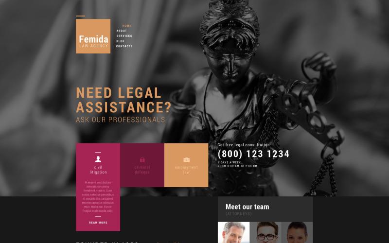 Тема WordPress для агентства государственного правосудия