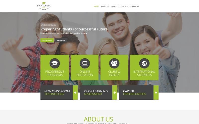 Téma WordPress pro propagaci střední školy