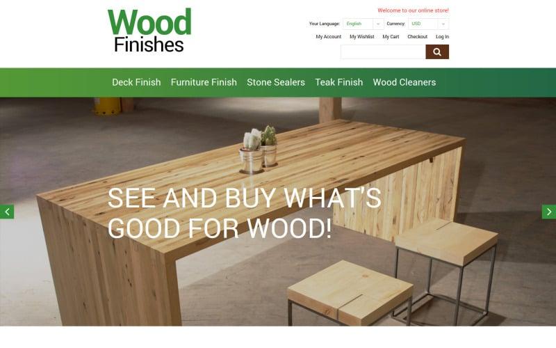 Wood Finishes Promotion Magento Theme