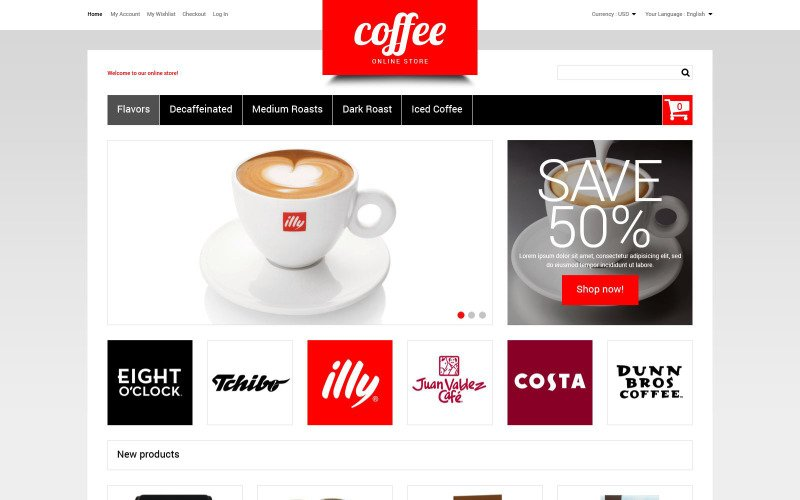 Coffee Store Magento Theme