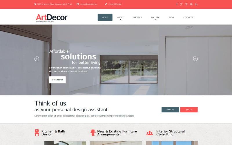 Interior Design Responsive WordPress Theme