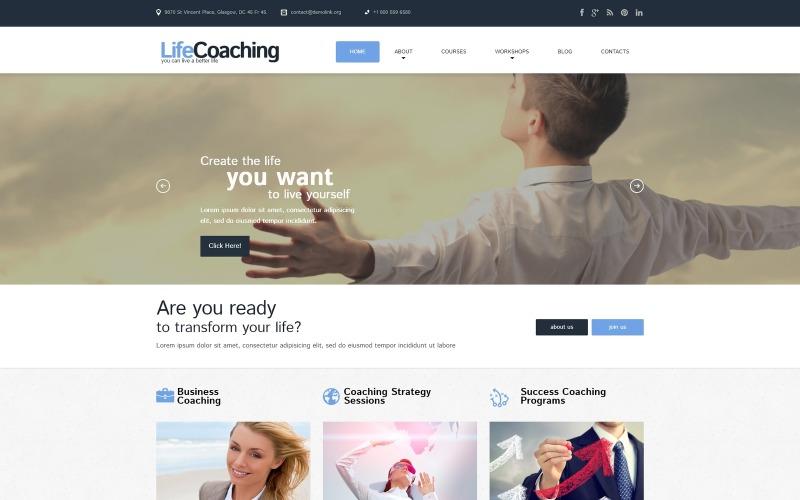 Life Coach reagáló WordPress téma