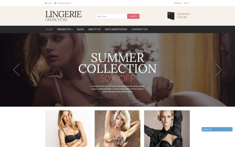 Lingerie Store Shopify Theme