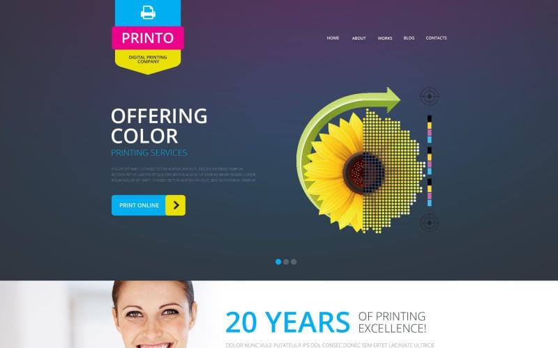 Modello di sito Web reattivo per negozio di stampa