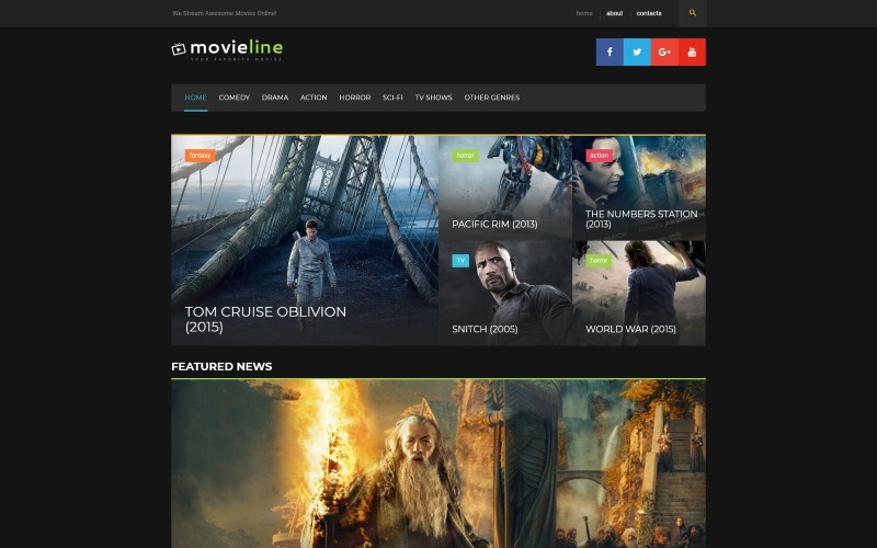 MovieLine - motyw WordPress do kina online