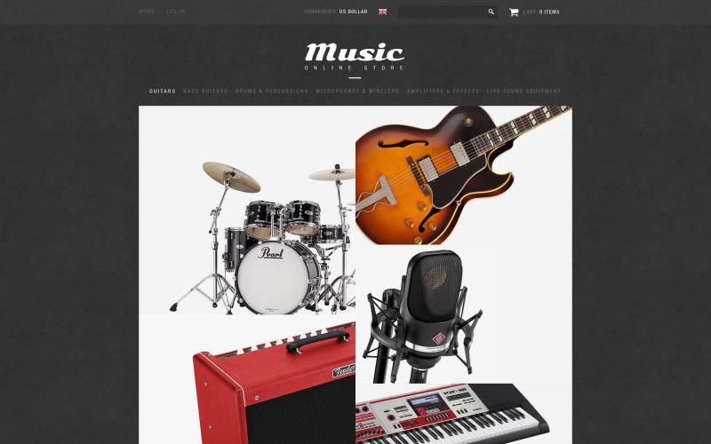 Music Shop ZenCart Template