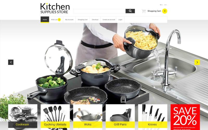 OpenCart шаблон онлайн-склада кухни