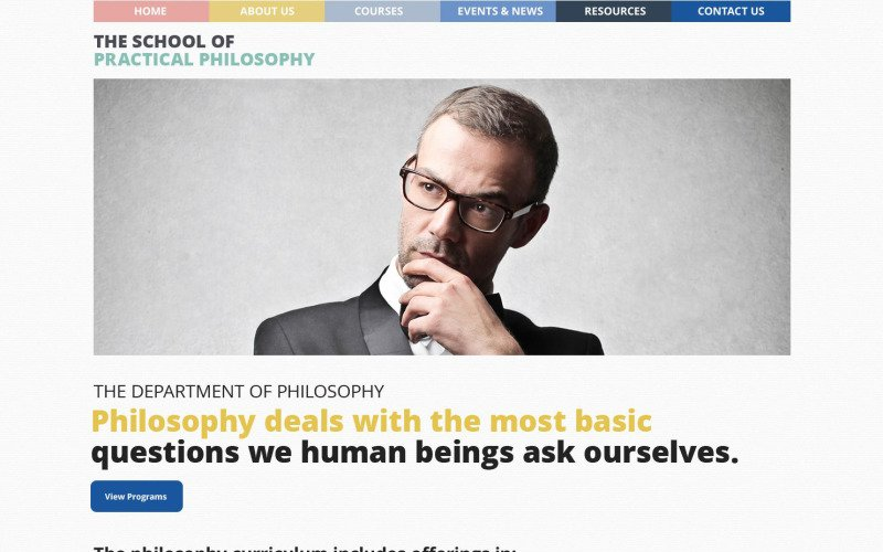 Philosophy Courses WordPress Theme