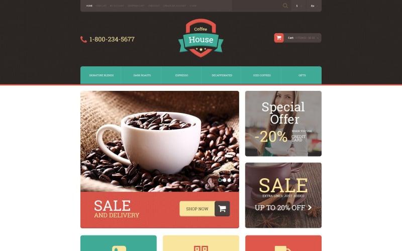 Пить кофе OpenCart шаблон