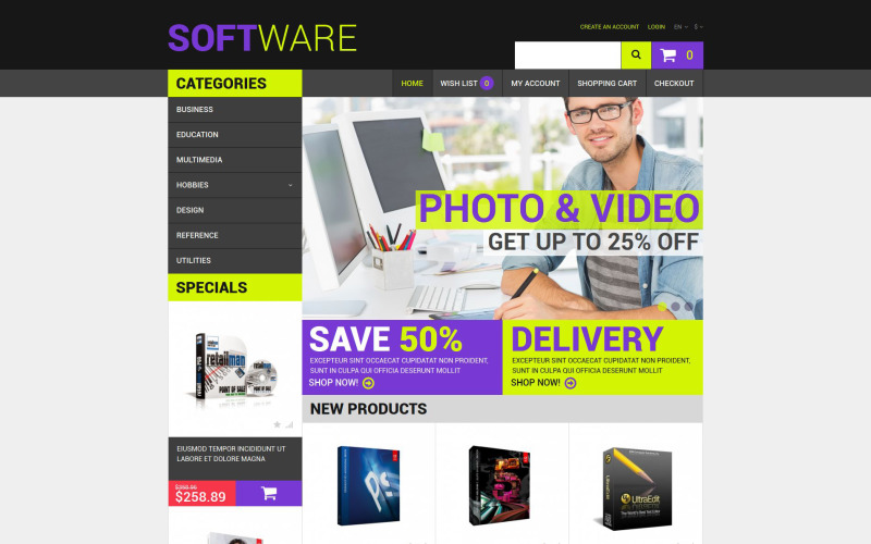 Reliable Software Provider OpenCart Template