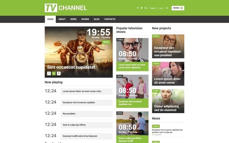 TV Channel Responsive Joomla Template