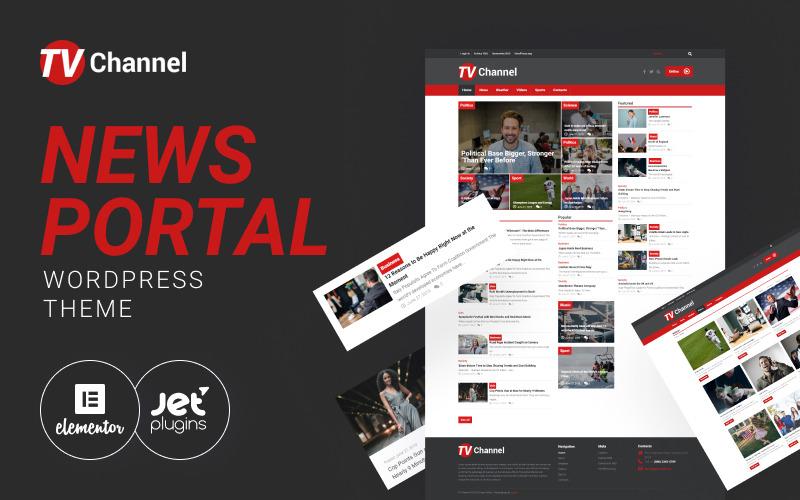 TVChannel - zpravodajský portál Moderní téma WordPress Elementor