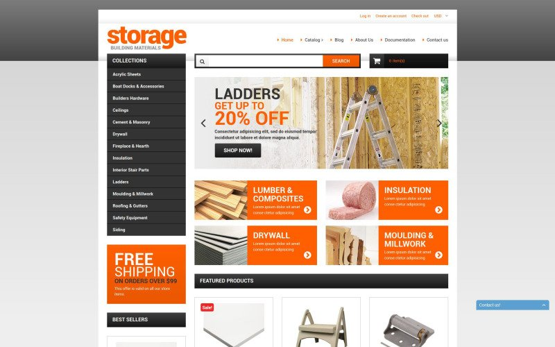 Building Materials Shopify Theme