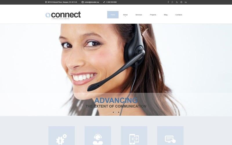 Communications Responsive Joomla Template