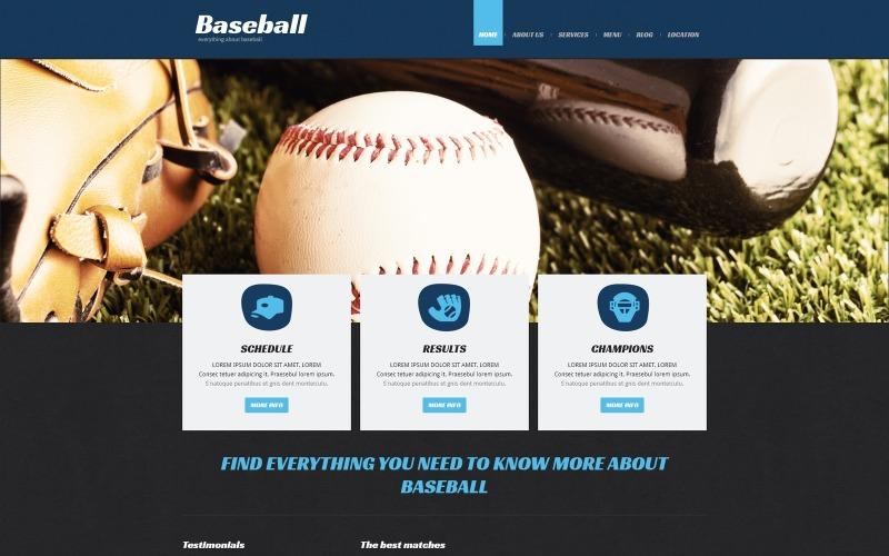 Honkbal responsieve Joomla-sjabloon