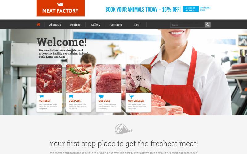 Ökológiailag tiszta hús WordPress téma
