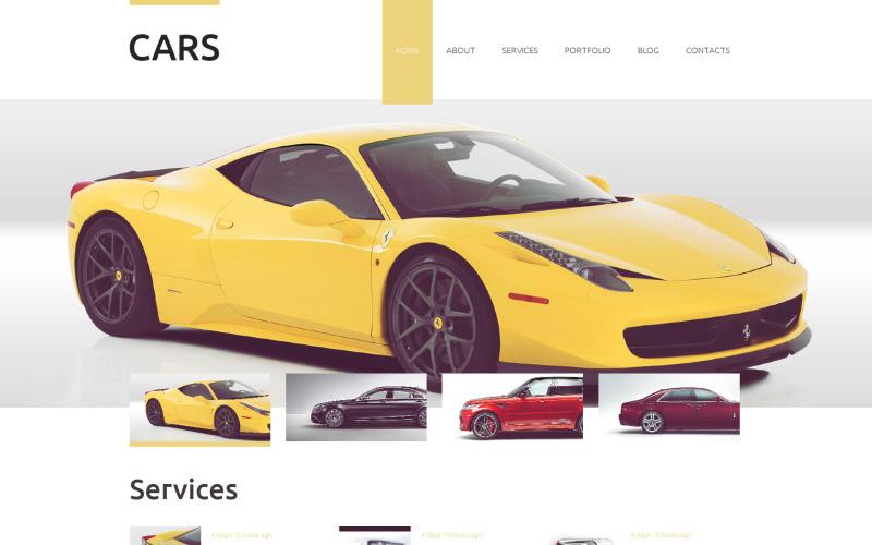 Plantilla de Drupal para empresas de vehículos
