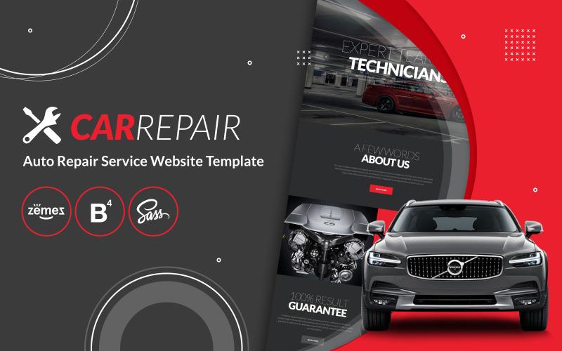 Reparación de automóviles - Plantilla de sitio web de servicio de reparación de automóviles