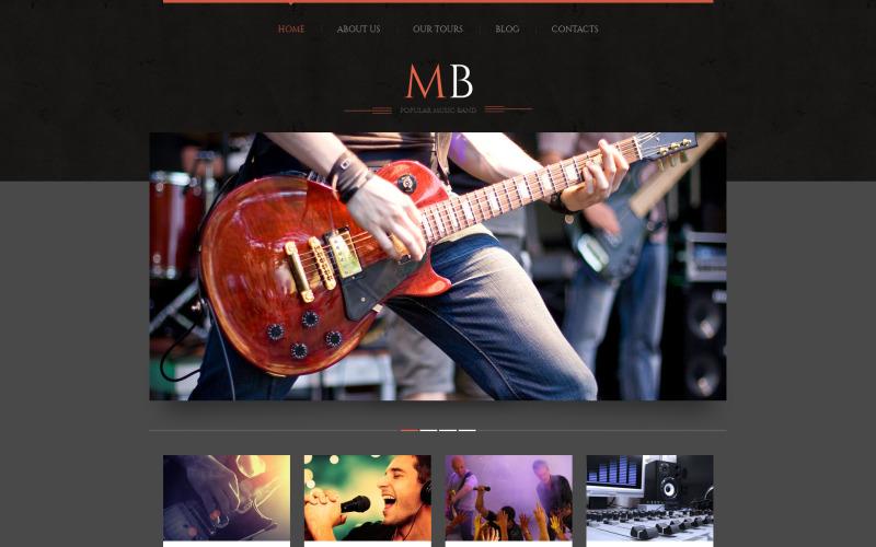 Music Band Responsive WordPress-tema