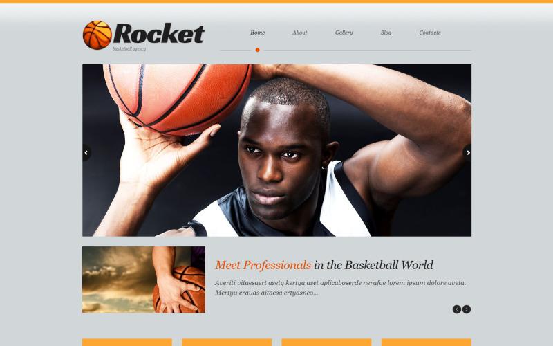 Thème WordPress réactif de basket-ball
