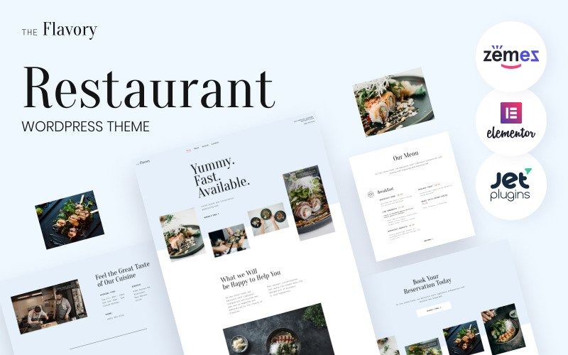 Flavory - Restaurant and Cafe WordPress Theme