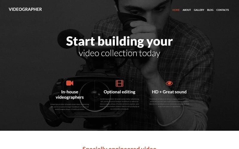Joomla šablona Videographer Services