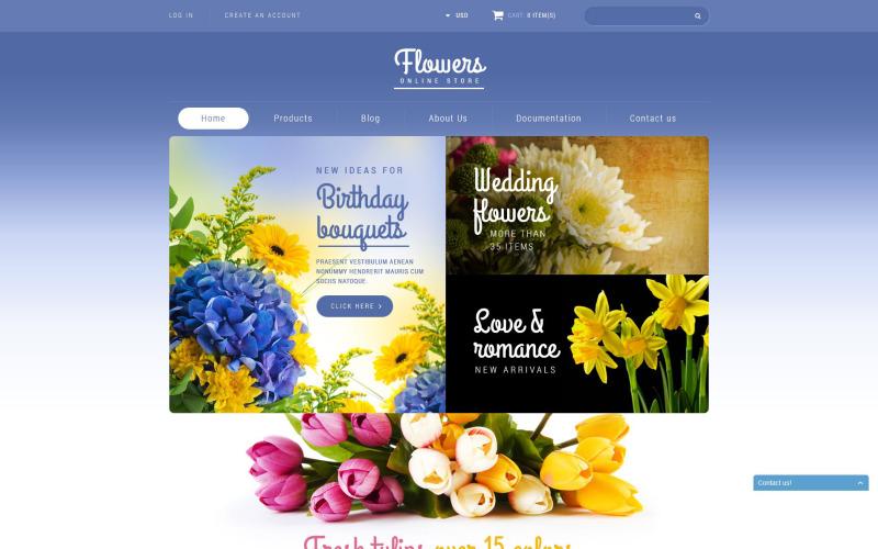 Магазин квітів Shopify Тема