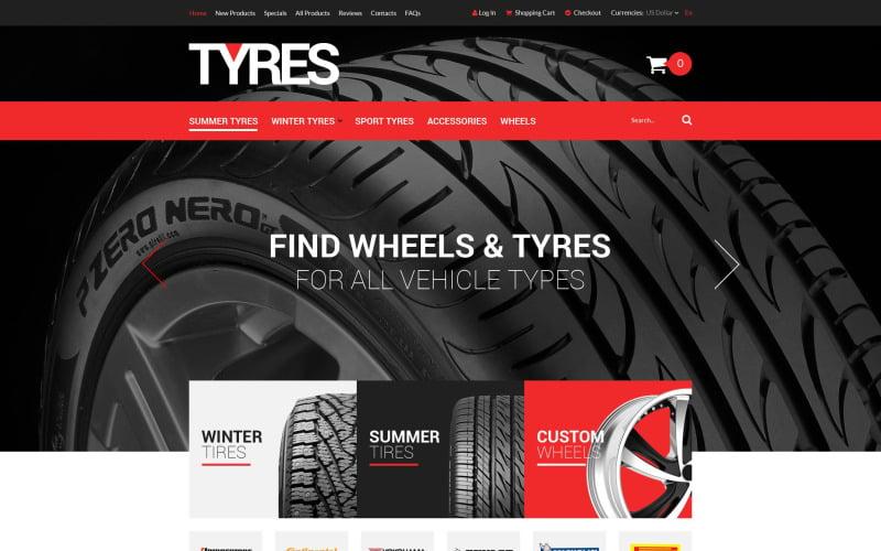 Online Tires Sales ZenCart Template