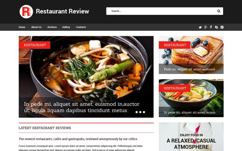 Restaurant Reviews Responsive Website Template