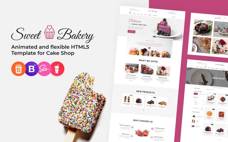 Sweet Bakery - Modèle de site Web réactif de pâtisserie