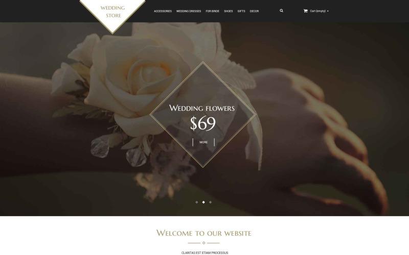Wedding Shop PSD Template