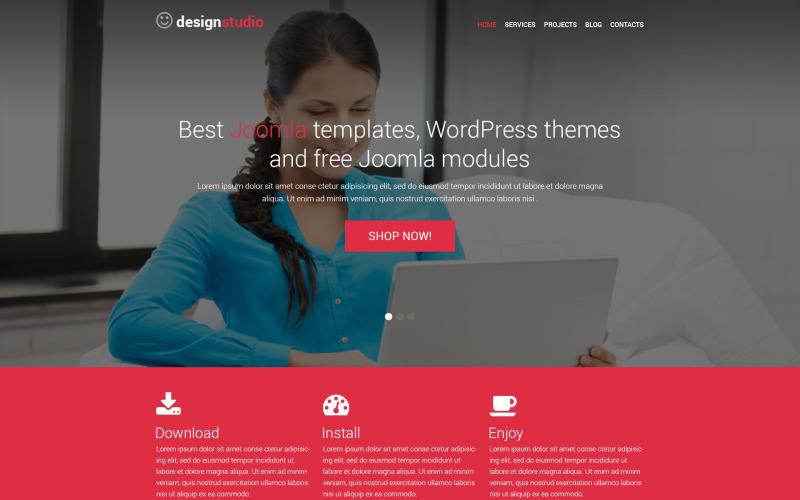 Адаптивная тема WordPress для студии дизайна
