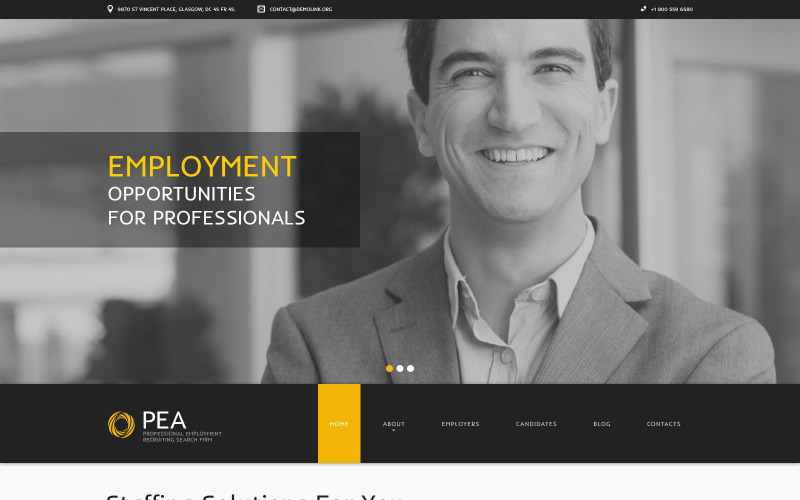 Company Staff Expansion Drupal Template