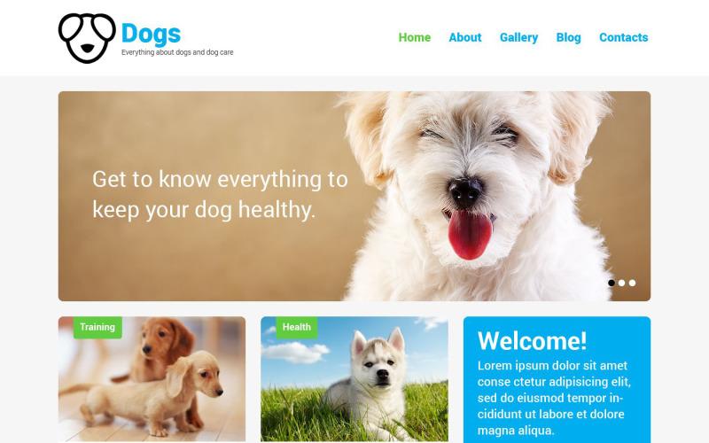 Kutya érzékeny WordPress téma
