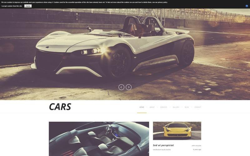 Šablona Joomla pro luxusní automobily
