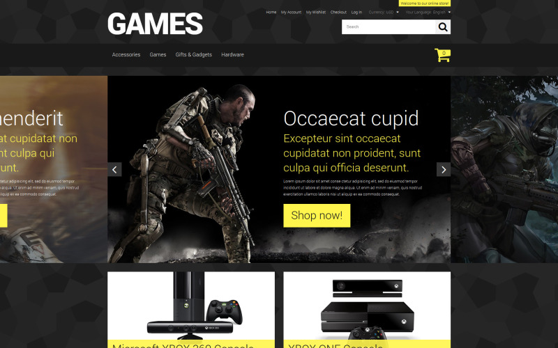 Store for Hardcore Gamers Magento Theme